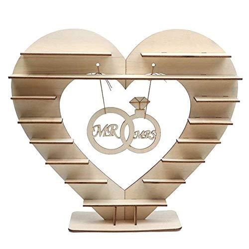 TianranRT Aus Holz Schokolade Hochzeit Candy Stand Perfekt Dekoration für Hochzeit Empfang