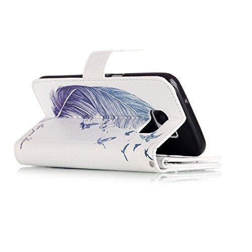 Hülle für Samsung Galaxy S7 Edge Schmetterling,TOCASO Glitter Strass Bling Ledertasche Muster Weich PU Schutzhülle für Samsung Galaxy S7 Edge Flip Cover Wallet Case Tasche Handyhülle mit Lanyard Strap #11#