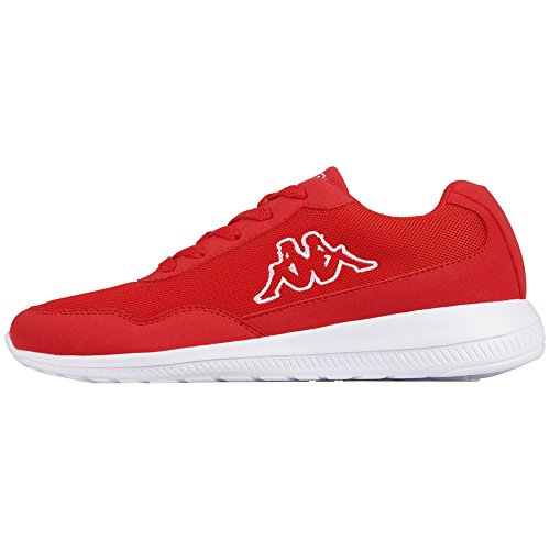 Kappa follow, sneaker unisex – adulto, rot (2010 red/white), 40 eu