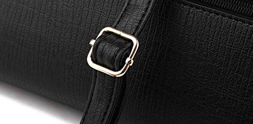 Frauen Handtaschen PU Leder Messenger Bag Handtaschen Elegante Einfache Mode Handtasche Schultertasche Damen Tasche Schwarz Tasche Red