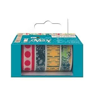 4 rouleaux coudre Motif Lovely Papermania Ruban de Papier adhésif décoratif Craft