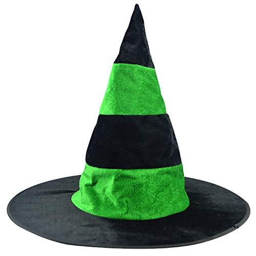 Hexenhut Kreative Lustige Streifenmuster Cosplay Halloween Hut Party Kostüm Hut