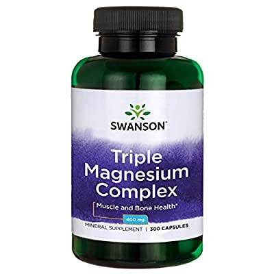Swanson Triple Magnesium Complex (400mg, 300 Capsules) from Swanson Health Products