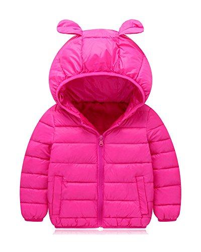 Daunenjacken Für Kinder Jungen Mädchen Winterjacke Mantel Trenchcoat Mit Kapuzen 120 Rose
