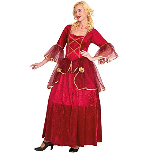 Kostüm Baronin - Mortino Damen Kostüm Rote Baronin Barock Venezia Fasching Karneval Adel (S)