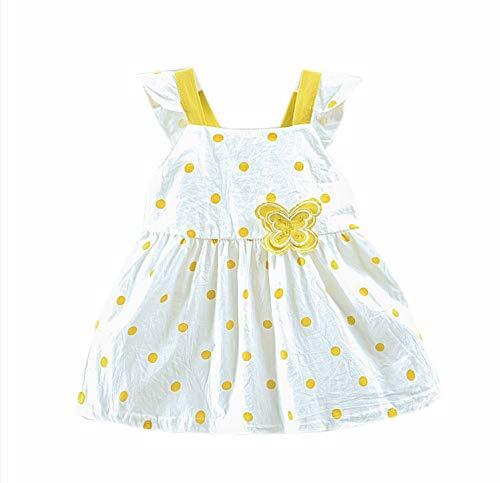 Ropa Bebé niño Vestido sin Mangas niñas Falda Mariposa
