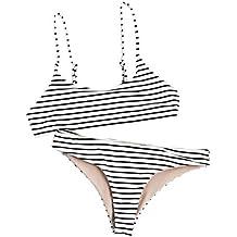 Dorical Bikini Mujer Verano Sexy Dividida Simple De Dos Piezas Sujetador De Rayas Push-up