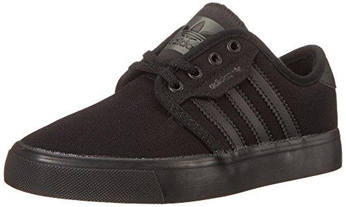 Adidas Seeley J Toile Chaussure de Basket Black1-Black1-Black1