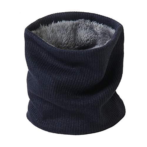 Jfan - scaldacollo in cotone, foderato in pile, doppio strato,morbido, forma circolare, antivento, per uomini e donne marina militare taglia unica