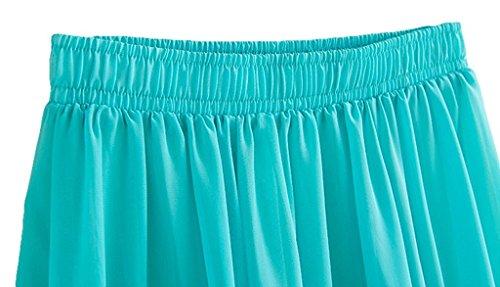 CoutureBridal® Femme Jupe longue Jupe dété Elastic Ceinture Chiffon 90cm Bleu Saphir