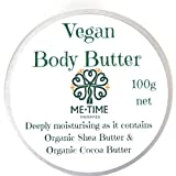 Vegan Body Butter -handmade with 100% natural ingredients & Aromatherapy oils. Ideal Vegan Beauty gift. 100g - Me-Time Therapies