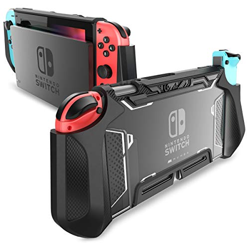 Custodia Switch, Mumba Cover Antiurto Switch in TPU Dockable Case compatibile con Console e Controller Joy-Con, Nero