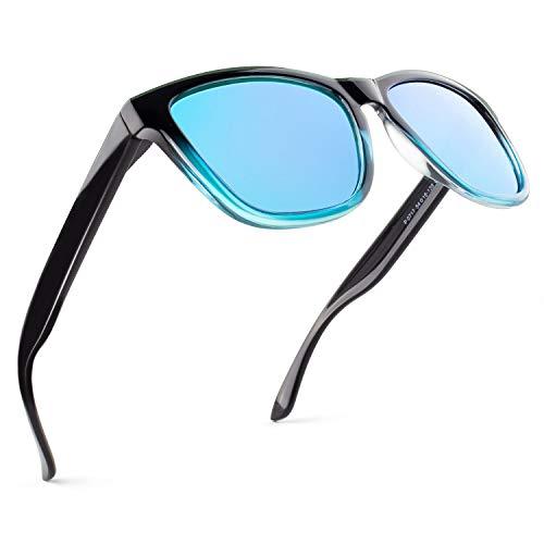 GQUEEN Gafas de Sol Polarizadas para Hombre Retro Mujer Gafas Sol MS07