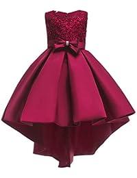 Vestito da Bambina Elegante Floreale Bowknot Festa di Carnevale Principessa  Abiti Damigella d Onore Sposa ff9ea139e50