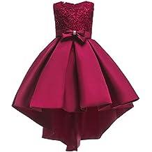 Vestito da Bambina Elegante Floreale Bowknot Festa di Carnevale Principessa  Abiti Damigella d Onore Sposa 6f7a0969322