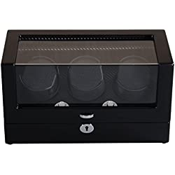 Watch winder Lindberg&Sons Brown for 3 self-winding watches UB8098