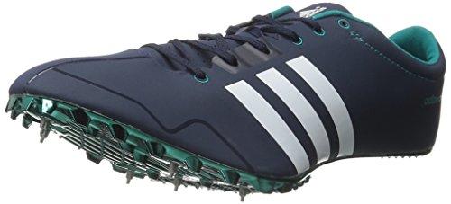 adidas Performance adizero Prime SP Running Shoe with Spikes Collegiate Navy/White/Green 8 B(M) US