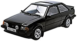 Sunstar European Collectibles 1:18 Scale 1983 Ford Escort MK3 XR3i Saloon In Black Die Cast Model Car by Sun Star