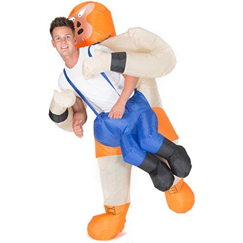 (Bodysocks® Aufblasbares Wrestler Kostüm für Erwachsene)