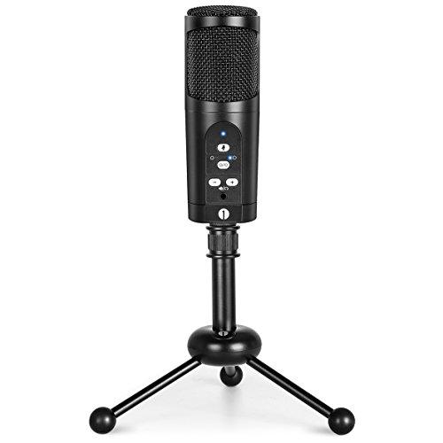 1byone USB Mikrofon mit Stativ, Mute Funktion und LED Anzeige, Kompatibel mit Windows/MacOS/Linux, Richtmikrofon oder mit kugelförmiger Richtcharacteristik