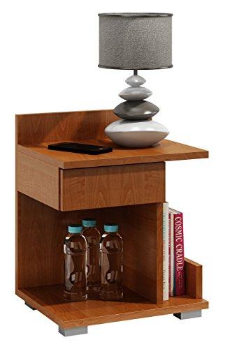 Kommode Erle (Unbranded Nachtschrank Nachtkosole Nachttisch Nachtschränkchen Beistelltisch V85 (Links, Erle))