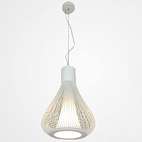 Beautiful Chandelier Gourd Type Iron Chandeliers Wire Lights Bird Cage Lights Living Room Bedroom Study Lights Cafe Leisure Venues Special Lights generous ( Color : White )