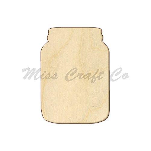 Mason Jar Holz Form Ausschnitt, Holz Craft Form, unlackiert Holz, DIY Projekt. Alle Größen erhältlich, kleine bis Big. Hergestellt in den USA. 12 x 8.5 Inches