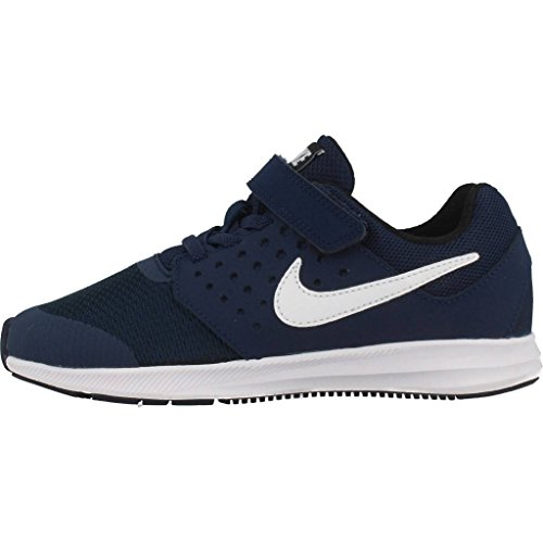 Nike Downshifter 7 Bpv, Scarpe da Corsa Bambino Blu (Midnight Navy/White/Dk Obsidian/Black)