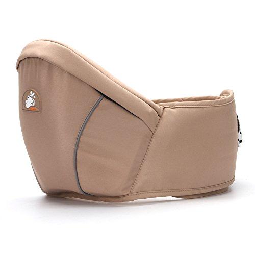 Portabebés de cadera moderno y cómodo con correas ajustables, para bebés de 0 a 3 años, Mujer, caqui