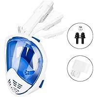 HOVNEE Máscara de buceo ,Máscara Snorkel Máscara para buceo 180 ° tecnología panoránica, la Máscara de Snorkel de cámara Instalable para los adultos,adecuado para interiores y exteriores