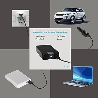RoyPow Corriente de Pico 400A 8000mAh Arrancador de Salto de Coche & Arrancador de Autos & Cargador de Batería & Power Bank con Linterna LED & Puerto de USB