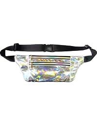 Women Men Shiny Metallic Wasit Bag Fashion Reflective Chest Bag Laser Waterproof PU Pack Bum Bag For Outdoor Beach... - B07H3QTZBB