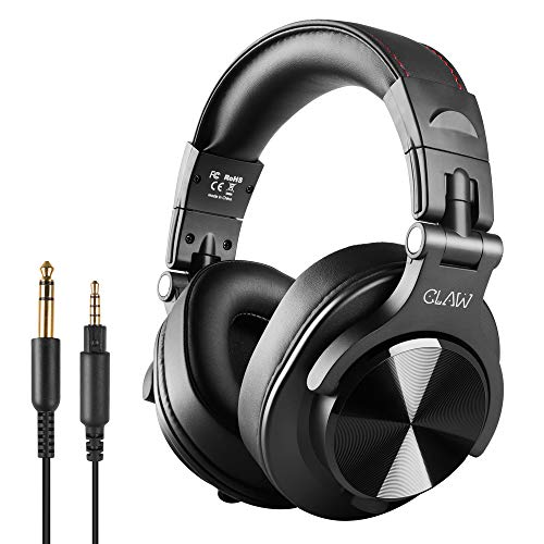 CLAW SM50 Professional Studio Monitor & DJ Headphones with 2 detachable cables (2.8m Coiled Cable & 1.2m Straight Cable with...