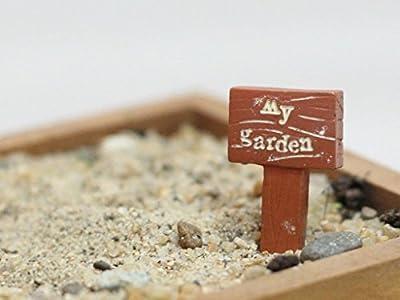 """My Garden"" Wegweiser aus Harz DIY Gartendeko Puppenhaus-Ausschmückung Miniatur Mini-Welt als Geschenk"