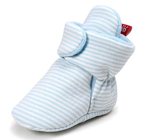 Hellomiko Unisex Baby erste Kinderwagen Schuhe, Fleece gefütterte Booties Schneeschuhe weiche warme Krippe Slipper (Halloween-fleece-stoff)