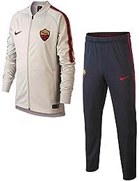 Nike Roma y NK Dry Sqd TRK K, traje de fútbol Unisex Niños, Roma Y Nk Dry Sqd Trk K, Light Bone/Dark Obsidian/Team Crimson, Medium