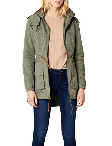 ONLY Damen Parka Onlnew OLGA Spring Coat OTW NOOS, Grün (Kalamata), 38 (Herstellergröße: M)