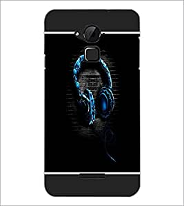 PrintDhaba Music D-1315 Back Case Cover for COOLPAD NOTE 3 LITE (Multi-Coloured)