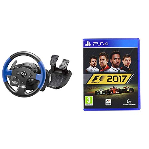 Thrustmaster T150 Force Feedback Volante - PS4/PS3/PC + F1 2017: Formula 1 - PlayStation 4