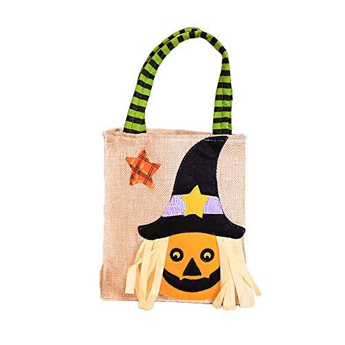 wonCacrostrans Halloween Süßigkeitstasche, Trick Süßes sonst gibt's Saures scherzt Kinderbeutel-Beutel-Süßigkeits-Geschenk-Handtasche 3#