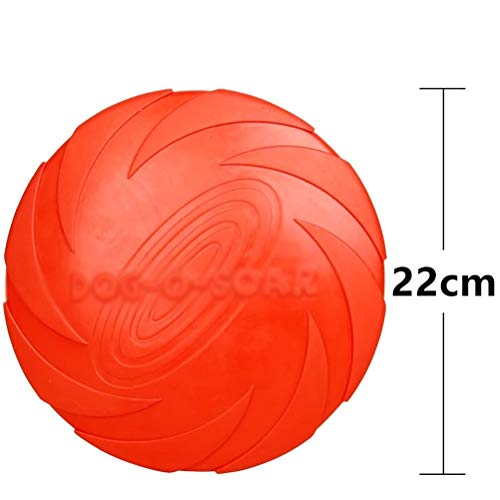 Dafang Soft Rubber Disc, Naturkautschuk Dog Activity Dog Disc, Kunststoff, Vivifying Hundefrisbee,Red,L