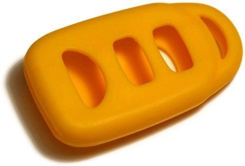 dantegts gelb Silikon Schlüsselanhänger Schutzhülle Smart-Fernbedienung Beutel Schutz Schlüssel Kette passend für: KIA Spectra 07–12mit Stamm (Kette Stamm)