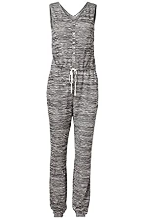 Vero Moda Gitta Jumpsuit - Grey Melange & Schwarz - Black - UK 12 / US 8 / EU 40