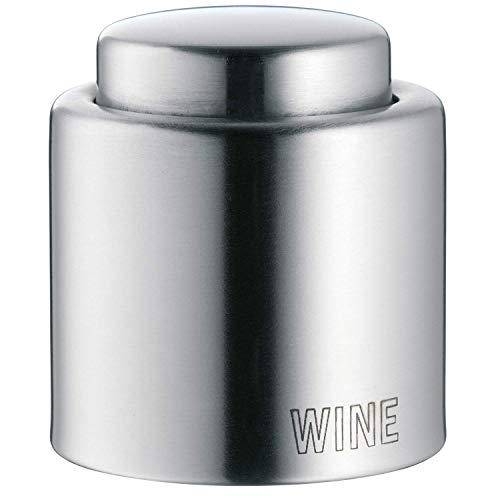"""WMF Clever & More Weinflaschenverschluss \""""Wine\"""", Edelstahl Cromargan mattiert, H 4,7cm, Ø 4 cm"""
