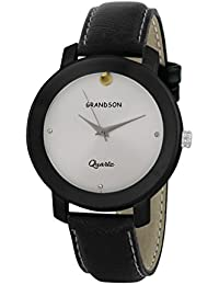 Grandson White And Black Casual Analog Watch For Boys And Men