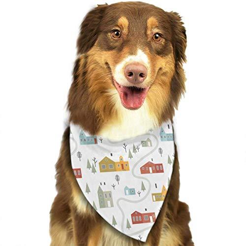 (Wfispiy Winter-Muster-Ostern-Hundebandana-umkehrbare Dreieck-Lätzchen für Hundehaustiere)