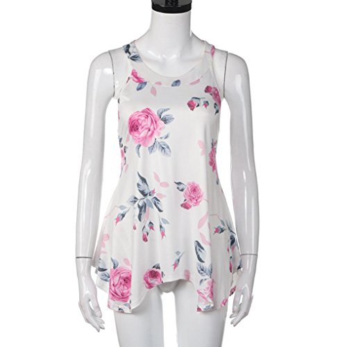 Oyedens Donna Veste T-Shirt Casual Da Donna A Maniche Lunghe Con Stampa Floreale Bianca