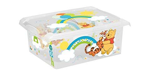 Preisvergleich Produktbild keeeper Winnie Aufbewahrungsbox mit Deckel, 39 x 29 x 14 cm, 10 l, Filip, Transparent