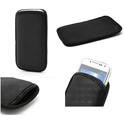 DFV mobile - Neoprene Waterproof Slim Carry Bag Soft Pouch Case Cover for => ARCHOS 40 Titanium > Black