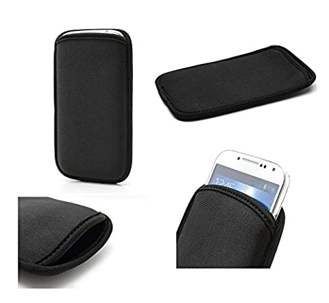 DFV mobile - Neoprene Waterproof Slim Carry Bag Soft Pouch Case Cover for => Nokia 3210 > Black